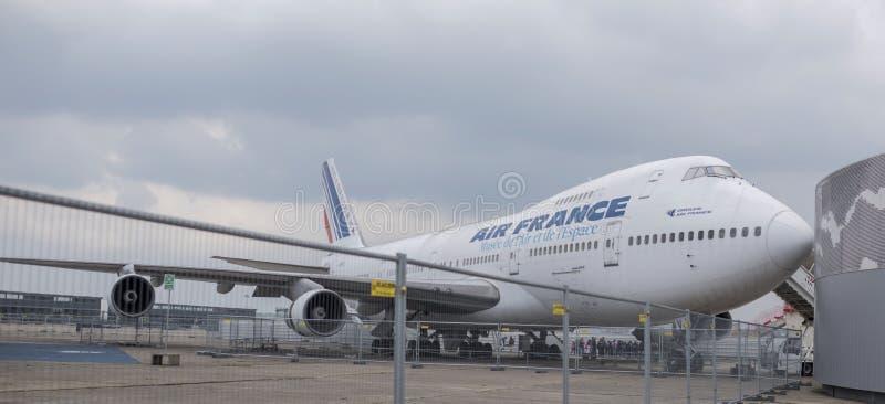 Avions Boeing 747 dans le musée de l'astronautique et de l'aviation images stock
