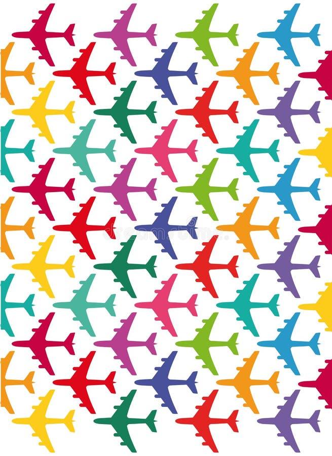 Avions colorés illustration stock