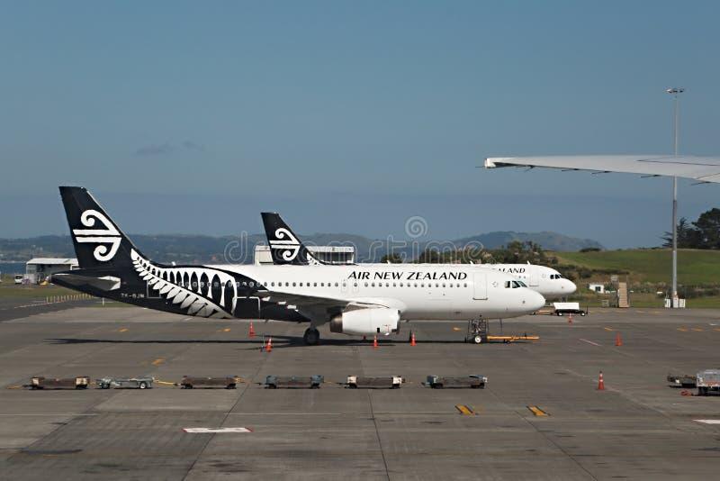 Avions d'Air New Zealand images libres de droits