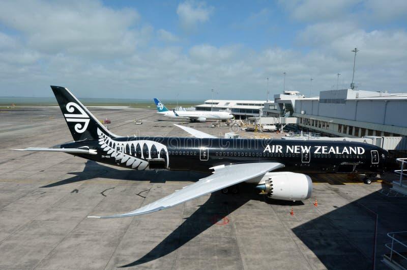 Avions d'Air New Zealand photo libre de droits
