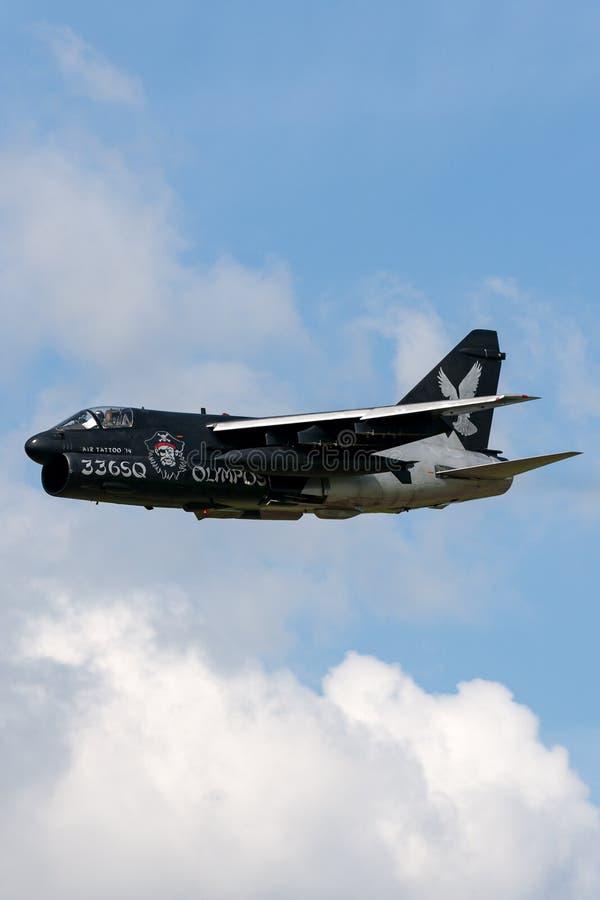 Avions d'attaque helléniques du corsaire II de l'Armée de l'Air LTV A-7E de l'Armée de l'Air grecque image stock