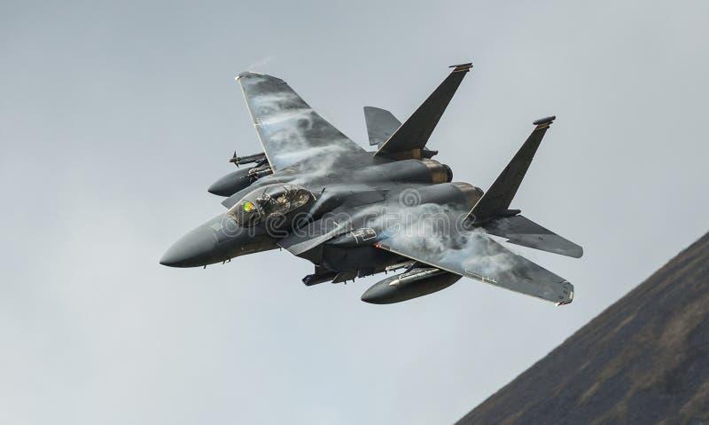 Avions d'avion de chasse d'Eagle de la grève F15 photo stock