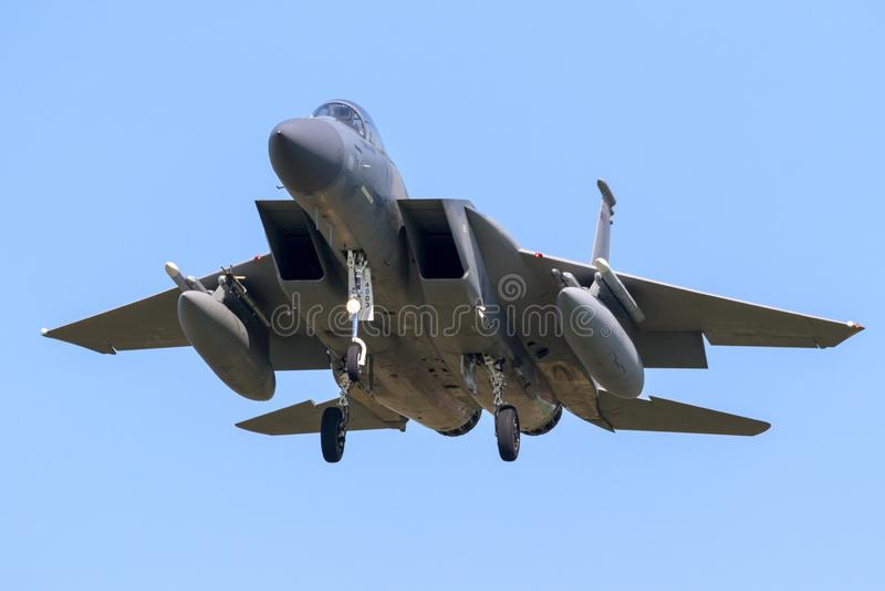 Avions d'avion de chasse de l'Armée de l'Air d'USA F-15 Eagle photo stock