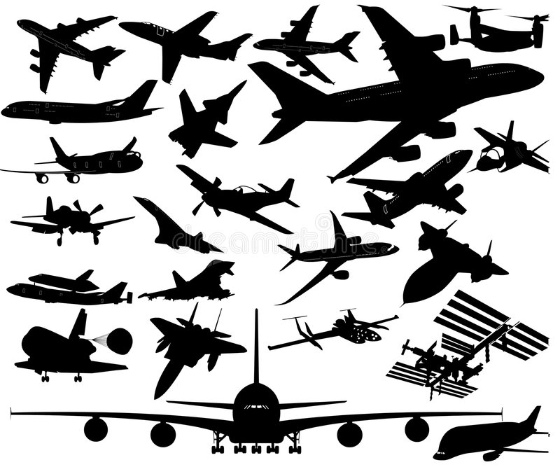 Avions dans l'art de vecteur illustration stock