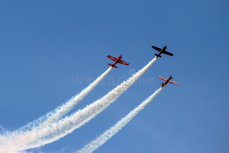 3 avions dans la formation image libre de droits