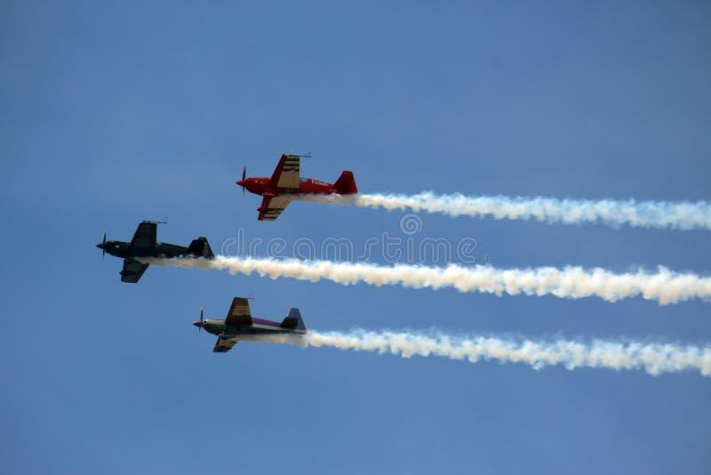 3 avions dans la formation photographie stock libre de droits
