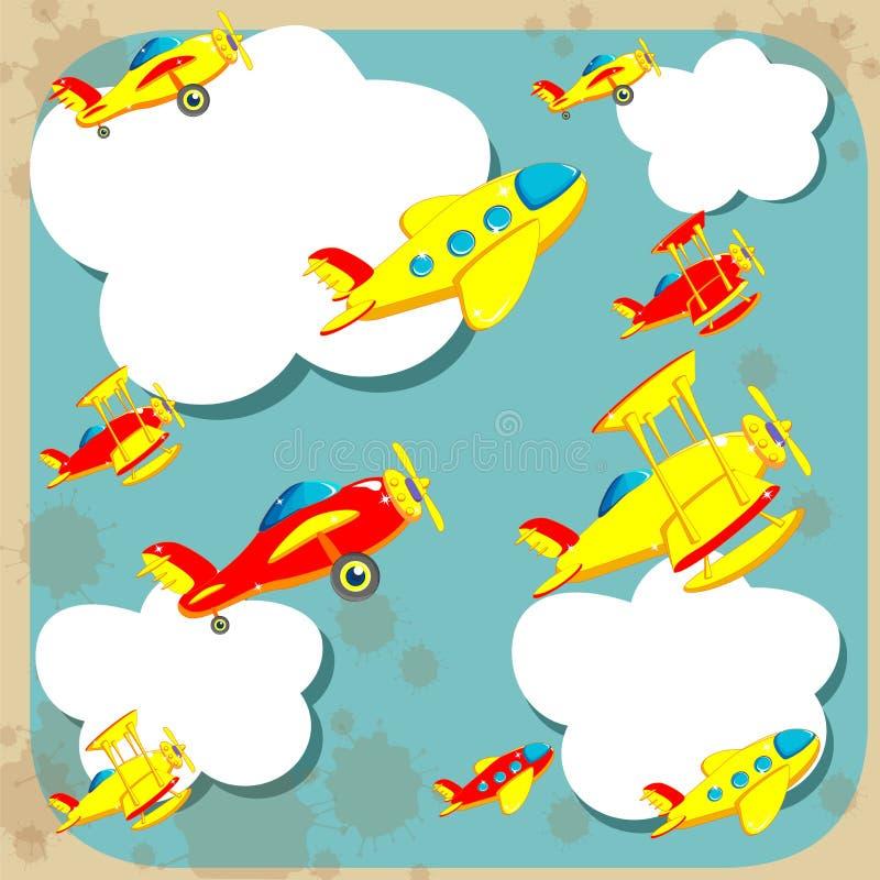 Avions dans le ciel illustration stock
