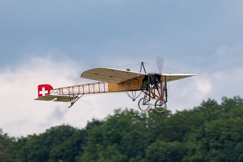 Avions de Bleriot XI de cru possédés et exploités par Mikael Carlson photos stock