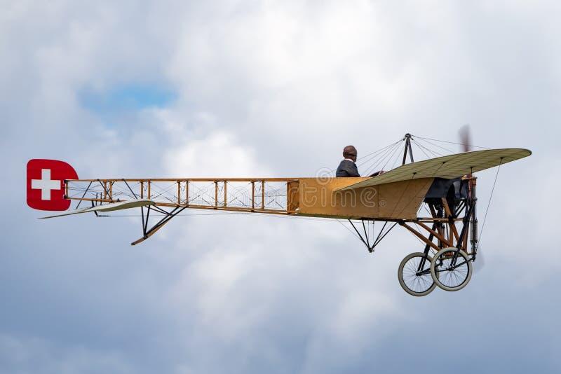 Avions de Bleriot XI de cru possédés et exploités par Mikael Carlson images stock