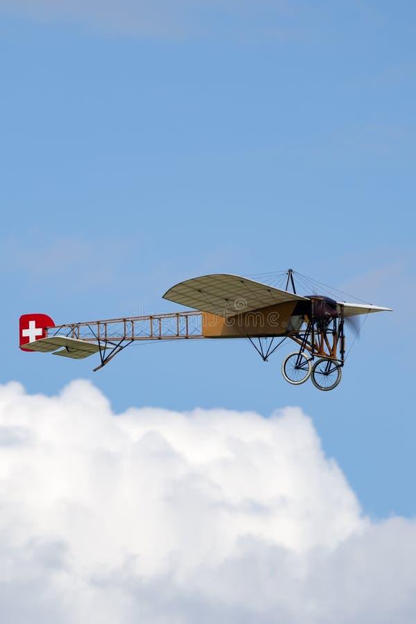 Avions de Bleriot XI de cru possédés et exploités par Mikael Carlson images libres de droits