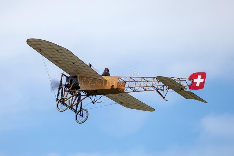 Avions de Bleriot XI de cru possédés et exploités par Mikael Carlson photo libre de droits