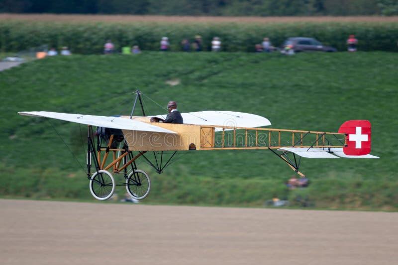 Avions de Bleriot XI de cru possédés et exploités par Mikael Carlson image libre de droits