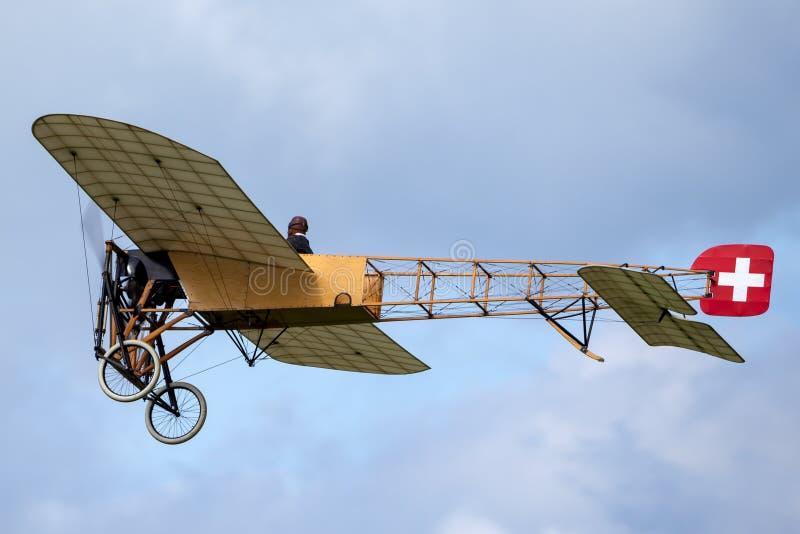 Avions de Bleriot XI de cru possédés et exploités par Mikael Carlson photographie stock libre de droits