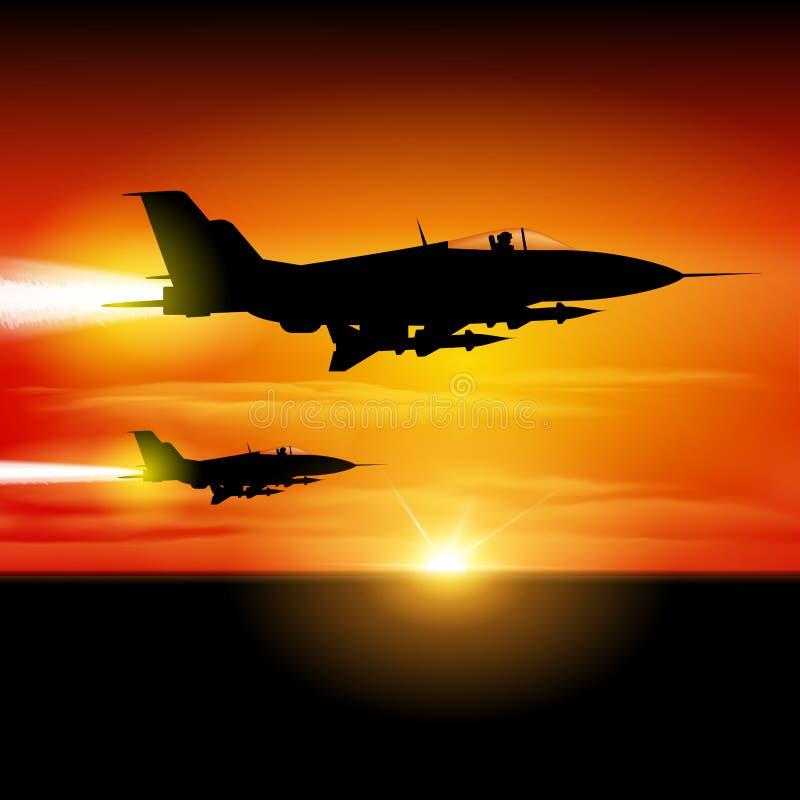 Avions de chasse illustration libre de droits