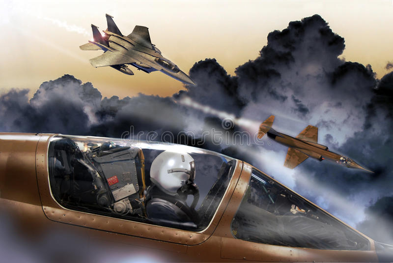 Avions de combat illustration stock