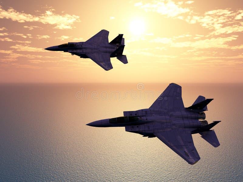 Avions de combat illustration de vecteur