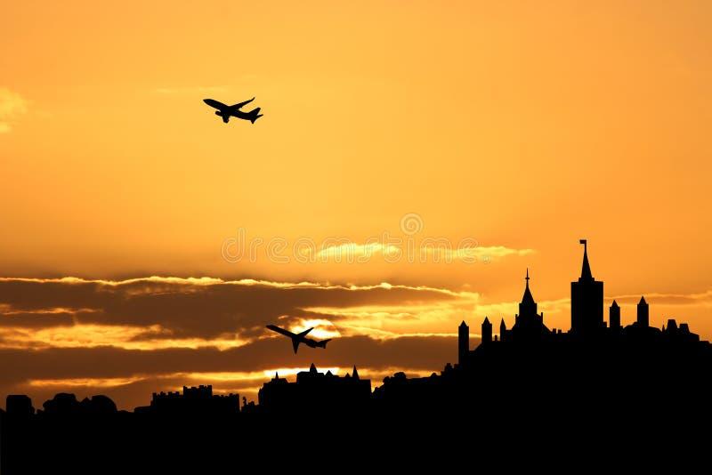 avions de départ d'Ottawa illustration libre de droits