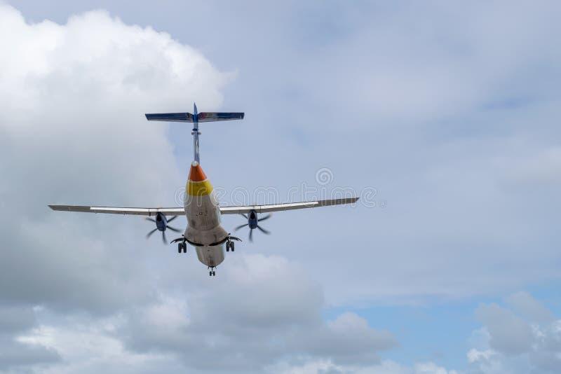 Avions de LIAT V2-LIB, une avion de ligne régionale d'ATR 72-600 images stock