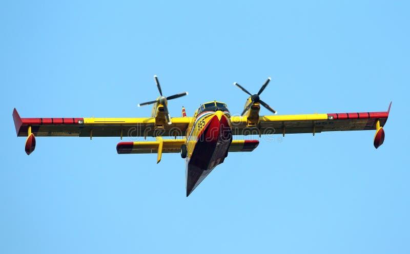 Avions de lutte contre les incendies de Canadair image stock