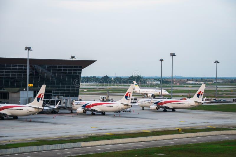 Avions de Malaysia Airlines chez Kuala Lumpur International Airport malaysia photos stock