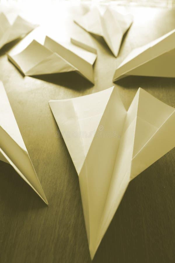 Avions de papier images stock
