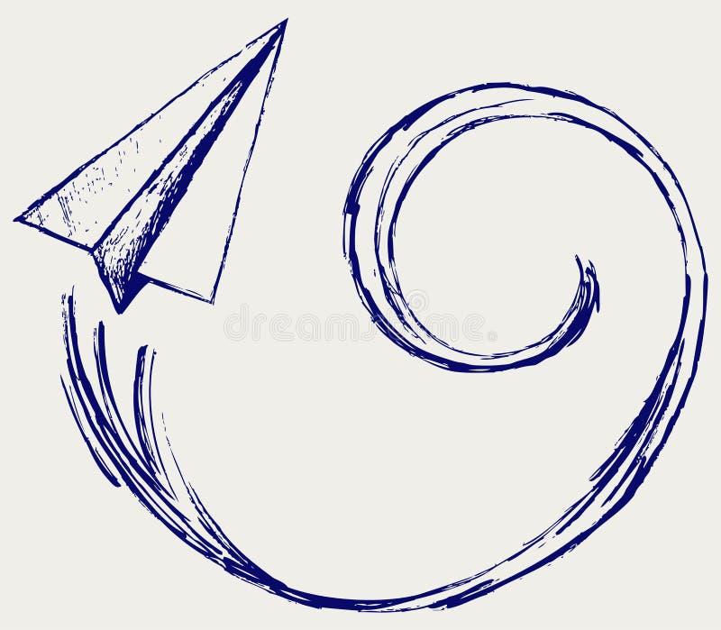 Avions de papier illustration de vecteur