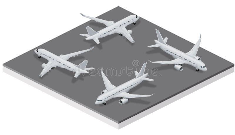 Avions de série C isométriques illustration de vecteur