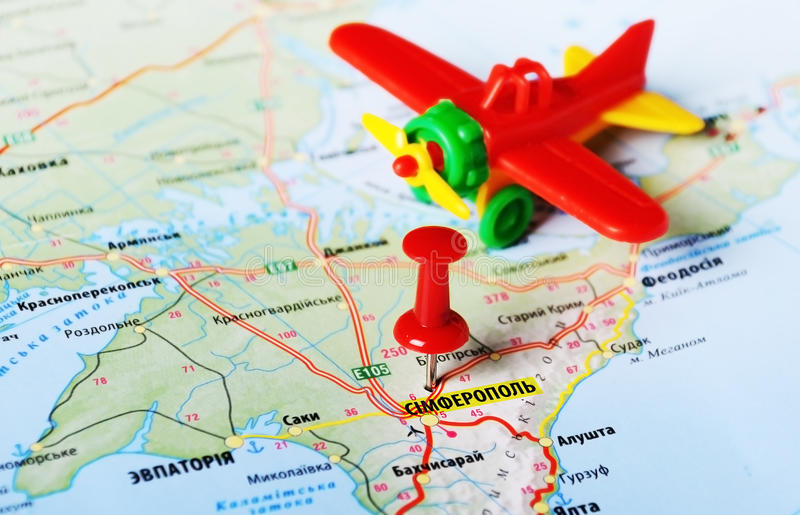 Avions de Simferopol, Ukraine Russie images stock