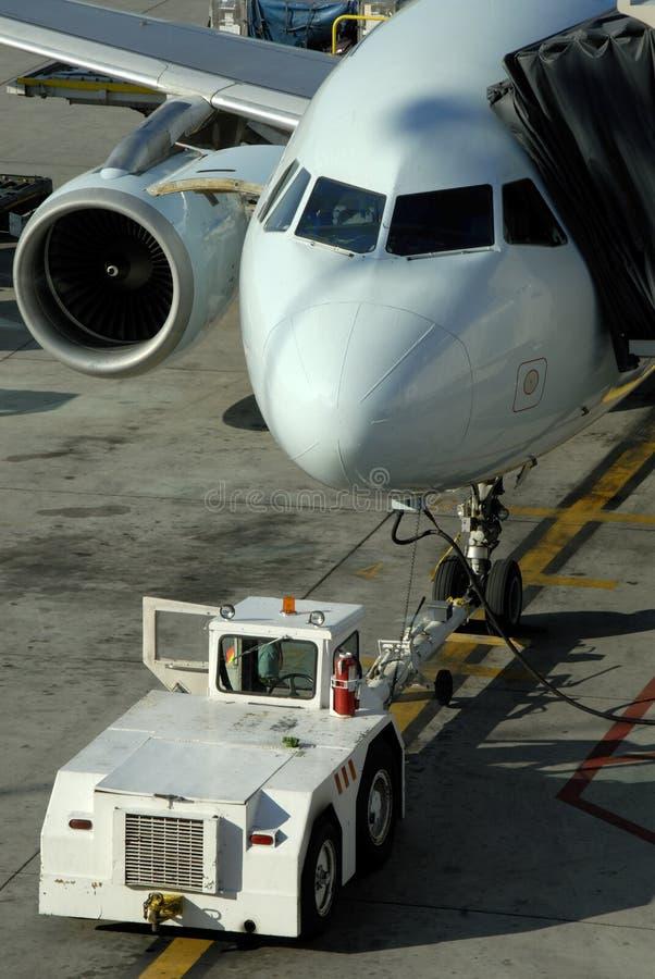 Avions de transport de passagers image libre de droits