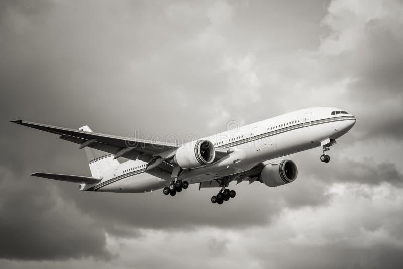 Avions de transport de passagers photographie stock