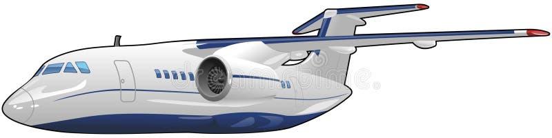 Avions de transport de passagers illustration libre de droits