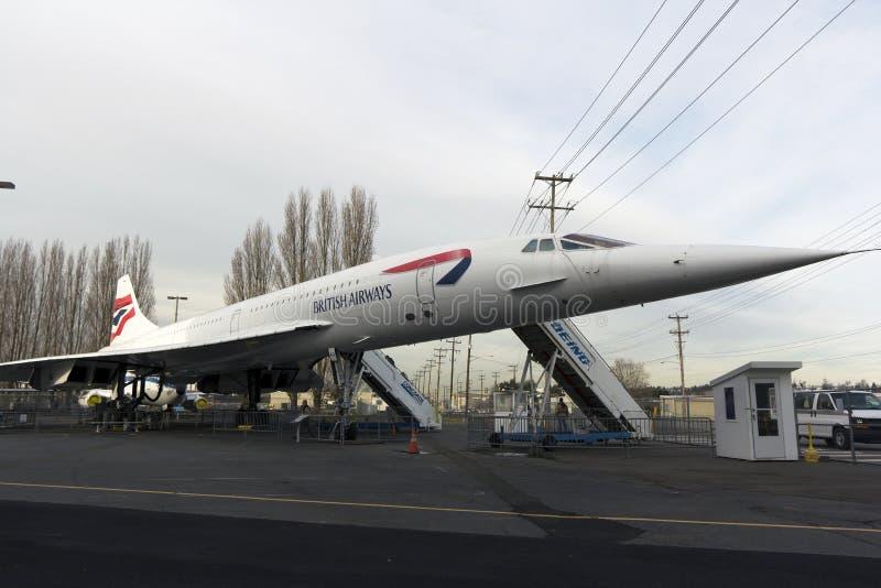 Avions de transport de passagers supersoniques retirés photos libres de droits