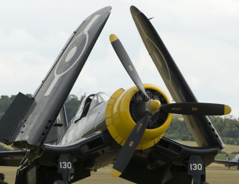 Avions de WWII à l'airshow de Duxford photo stock