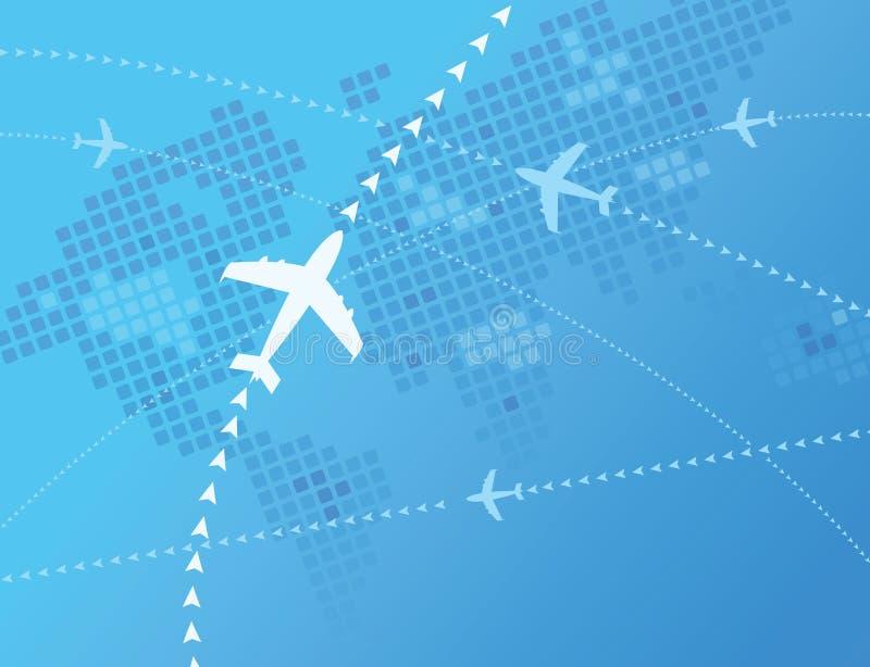 Avions du monde illustration libre de droits