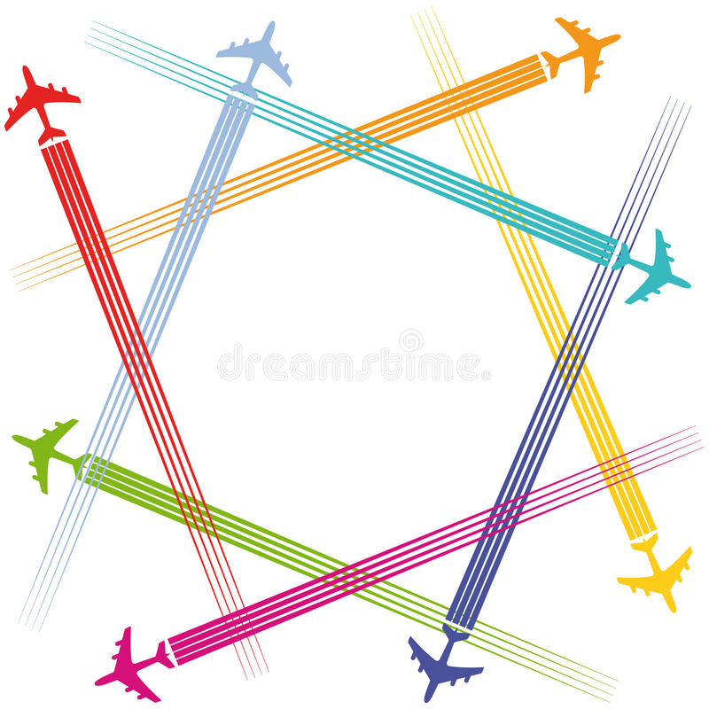 Avions et transports aériens illustration stock