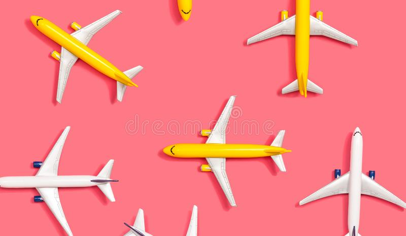 Avions miniatures de jouet illustration stock