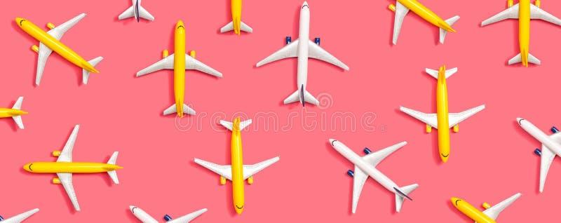 Avions miniatures de jouet illustration stock
