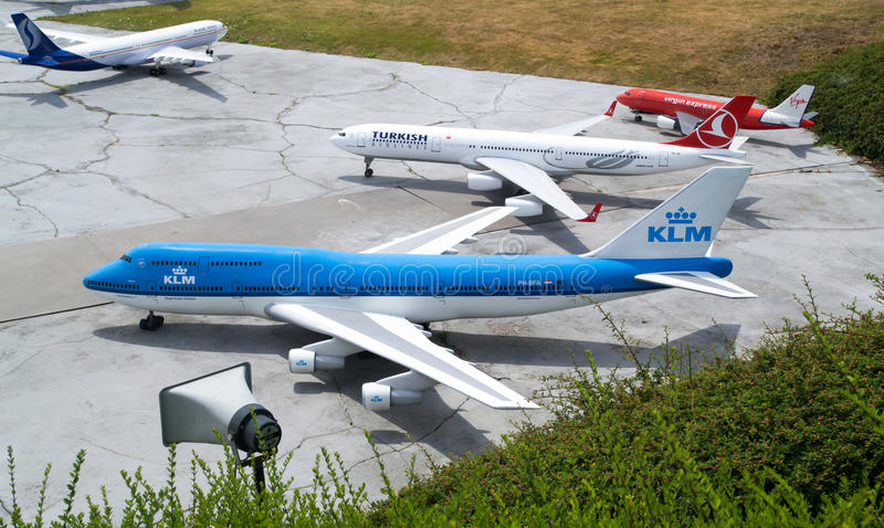 Avions modèles image stock