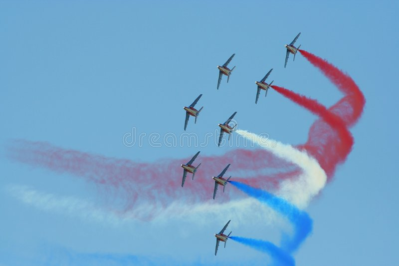 Avions patriotiques   photo stock