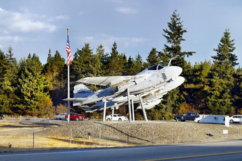 Avions, port de chêne, île de Whidbey, Washington photographie stock libre de droits