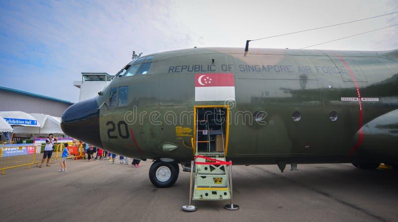 Avions sur l'affichage dans Changi, Singapour image libre de droits