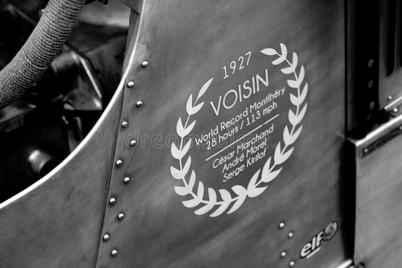 Avions Voisin prędkości światowy rejestr 1927 zdjęcia royalty free