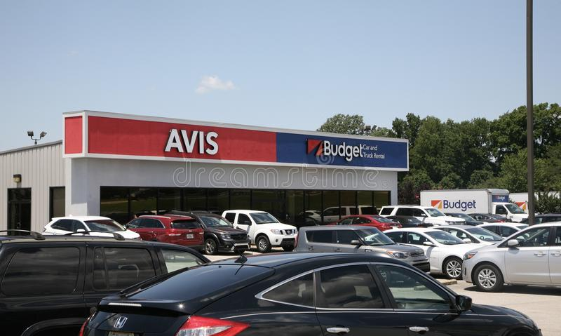 Avis and Budget Car Rental Company. royalty free stock images