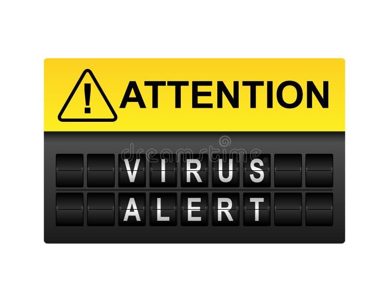 Aviso alerta do vírus ilustração royalty free