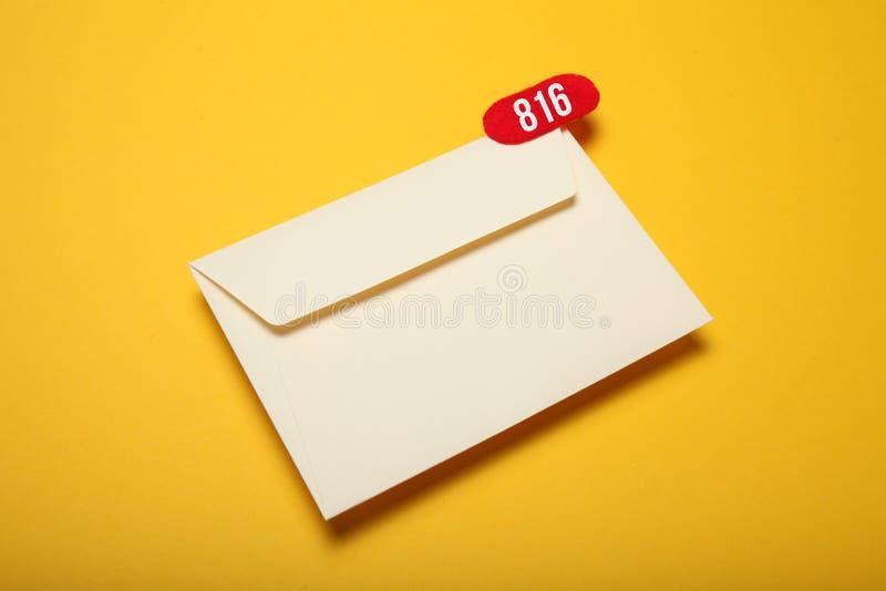 Aviso, charla de la comunicación de la dirección Correspondencia del correo del contacto Mensaje recibido fotos de archivo libres de regalías
