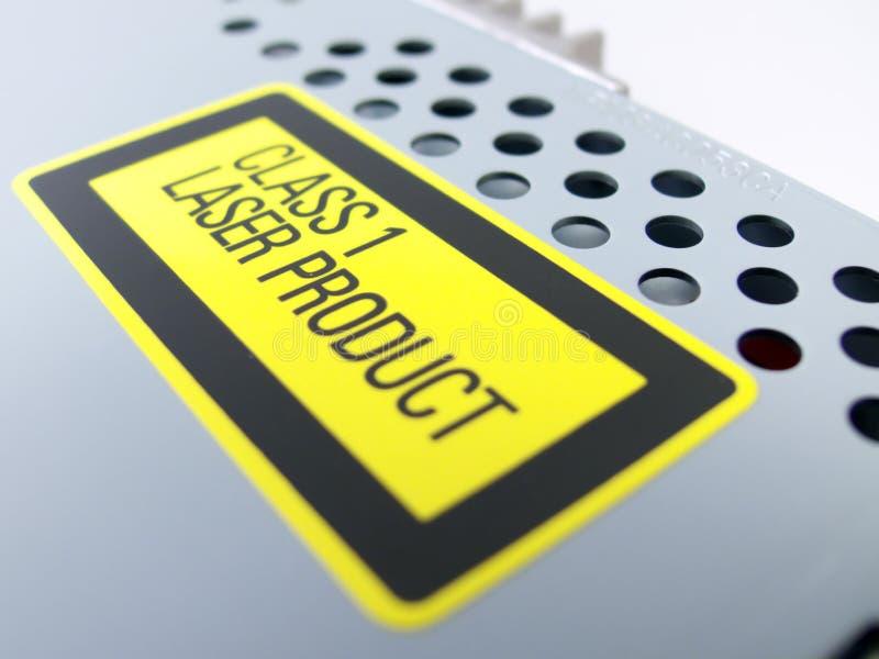 Aviso da radiação de laser foto de stock