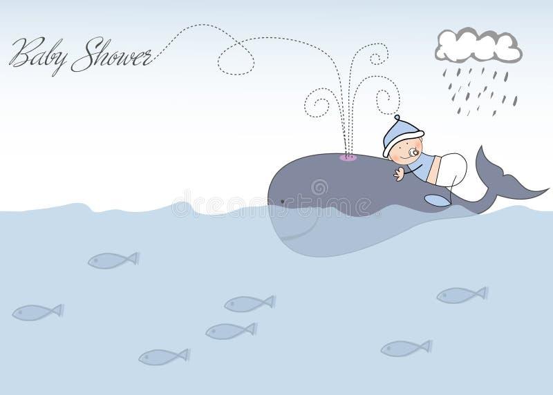 Aviso de la ducha de bebé stock de ilustración