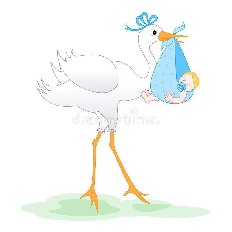 Aviso de la llegada del bebé libre illustration