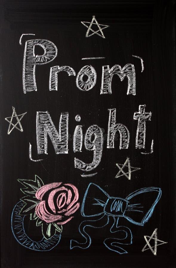 Aviso de la noche del baile de fin de curso imagenes de archivo