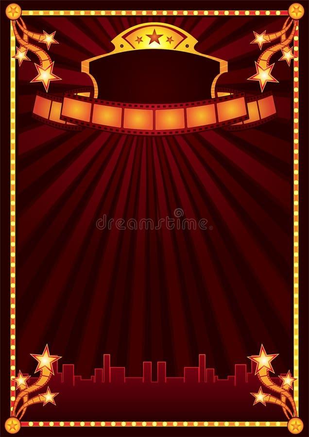 Aviso del cine stock de ilustración